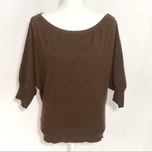 Trina Turk brown cashmere batwing sweater